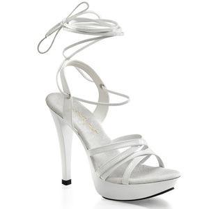 """5"""" High Heel Platform Criss Cross Sandal Shoes"""
